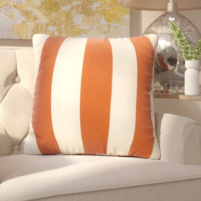 Mufeeda Indoor/Outdoor Throw Pillow Fabric: Burnt Orange, Size: Extra Large