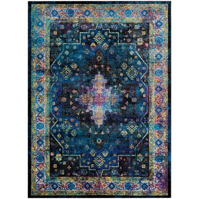 Nocera Blue/Green Area Rug Rug Size: Rectangle 53 x 76