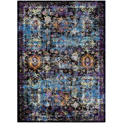 Nocera Blue/Purple Area Rug Rug Size: Rectangle 53 x 76