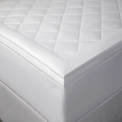 Gardella Diamonds Polyester Mattress Pad Bed Size: Queen