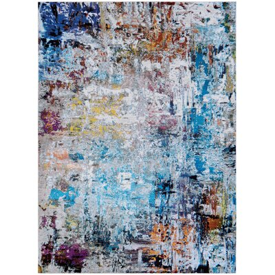 Goris Blue/Pink Area Rug Rug Size: Rectangle 53 x 76