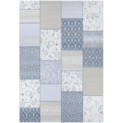 Feltman Patchwork Oyster/Pearl Area Rug Rug Size: Rectangle 710 x 109