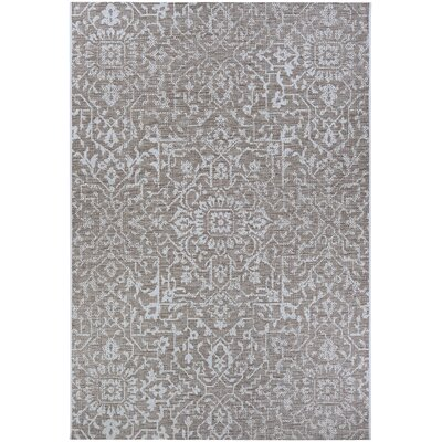 Kraatz Palmette Gray Indoor/Outdoor Area Rug Rug Size: Rectangle 53 x 76