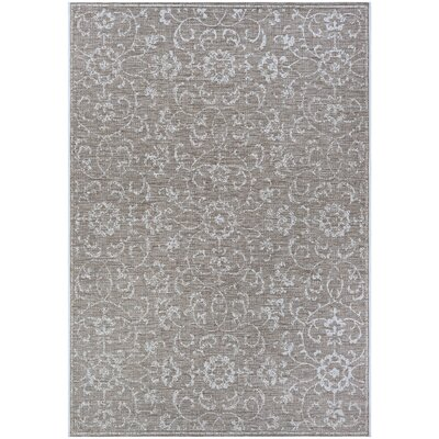 Kraatz Vines Gray Indoor/Outdoor Area Rug Rug Size: Rectangle 53 x 76