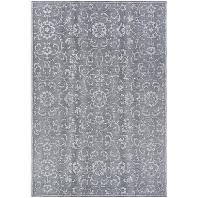 Kraatz Vines Dark Gray/Ivory Indoor/Outdoor Area Rug Rug Size: Rectangle 53 x 76