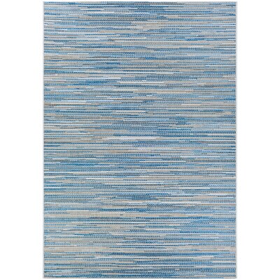 Heinen Blue/Gray Indoor/Outdoor Area Rug Rug Size: Rectangle 39 x 55