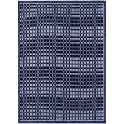 Cadencia Saddle Stitch Blue Indoor/Outdoor Area Rug Rug Size: Rectangle 39 x 55