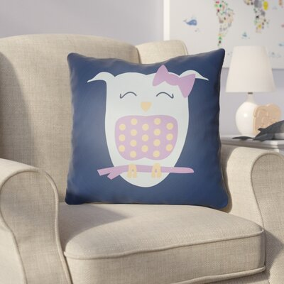 Colinda Owl Throw Pillow Size: 18 H x 18 W x 4 D, Color: Dark Blue