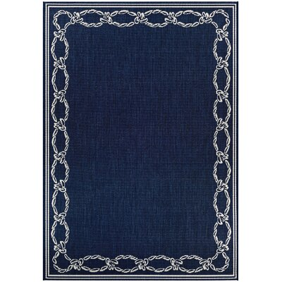 Dillow Rope Knot Blue Indoor/Outdoor Area Rug Rug Size: Round 76