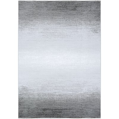 Driggers Gray/White Area Rug Rug Size: Rectangle 311 x 56