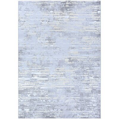 Driggers Light Gray/Champagne Area Rug Rug Size: Runner 22 x 710