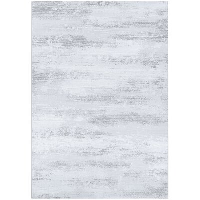Driggers Light Gray/White Area Rug Rug Size: Rectangle 66 x 96