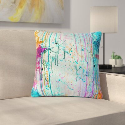 Ebi Emporium Happy Tears Outdoor Throw Pillow Size: 18 H x 18 W x 5 D, Color: Teal/Orange