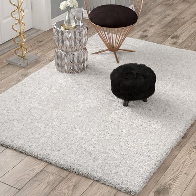 Otley White/Light Gray Area Rug Rug Size: Rectangle 53 x 76