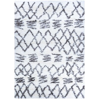 Oritz Black/White Area Rug Rug Size: Rectangle 53 x 76
