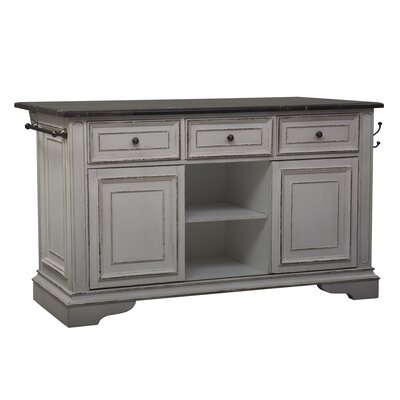 Gagner Kitchen Island with Granite