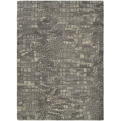 Noell Hand-Woven Wool Graystone Area Rug Rug Size: Rectangle 2 x 4