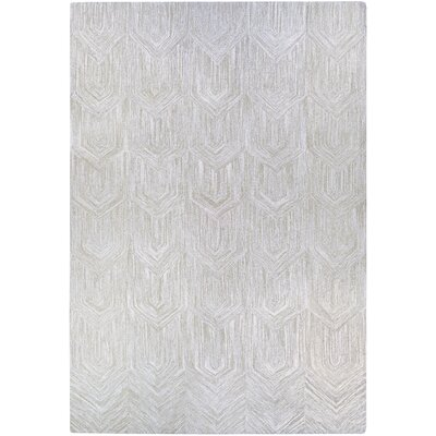 Crabill Hand-Woven Gray Area Rug Rug Size: Rectangle 5 x 8