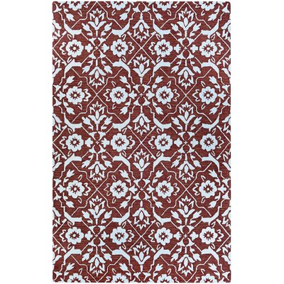 Fairgrove Tulip Lattice Hand-Woven Brown/White Area Rug Rug Size: Rectangle 8 x 10