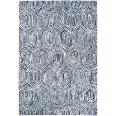 Crabill Hand-Woven Blue/Gray Area Rug Rug Size: Rectangle 5 x 8