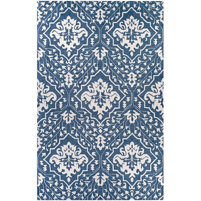 Fairgrove Hand-Woven Blue/White Area Rug Rug Size: Rectangle 2 x 3