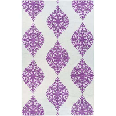 Orkney Ornament Hand-Woven Magenta Area Rug Rug Size: Rectangle 8 x 10