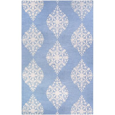 Orkney Ornament Hand-Woven Blue/White Area Rug Rug Size:  Runner 23 x 76