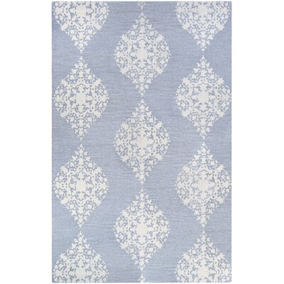 Orkney Ornament Hand-Woven Blue/White Area Rug Rug Size: Rectangle 2 x 3