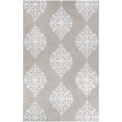 Orkney Ornament Hand-Woven Gray/Ivory Area Rug Rug Size: Rectangle 5 x 8