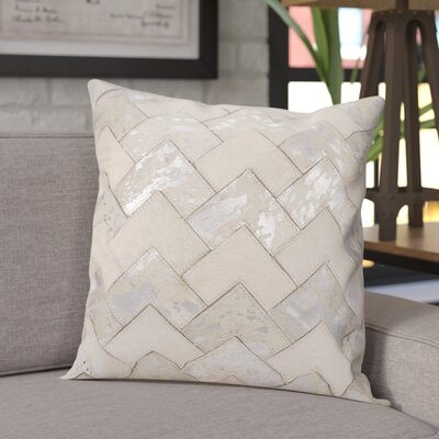 Carentan Throw Pillow Color: White/Silver