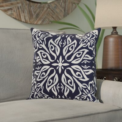 Crisler Print Indoor/Outdoor Throw Pillow Color: Navy Blue, Size: 20 x 20