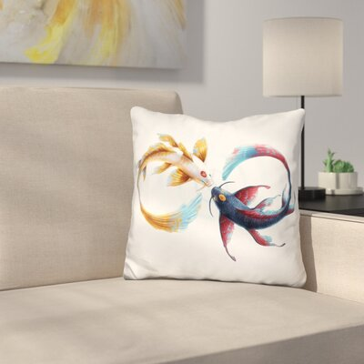 Eternal Bond Koi Throw Pillow