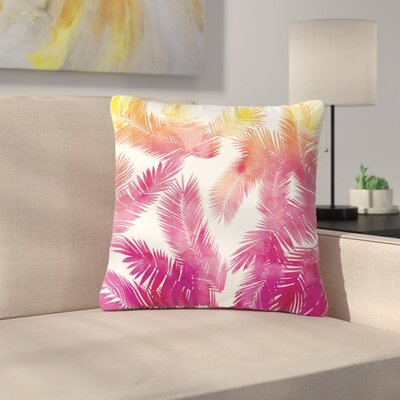 Draper Tropic Breeze Digital Outdoor Throw Pillow Size: 18 H x 18 W x 5 D, Color: Pink