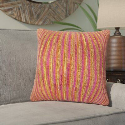 White City Stripes Throw Pillow Color: Yellow