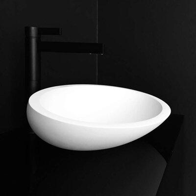 Vetro Freddo Resin Oval Vessel Bathroom Sink Sink Finish: White