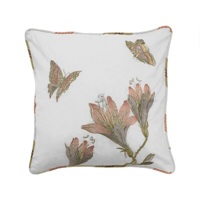 Laurel Springs Embroidered 100% Cotton Throw Pillow