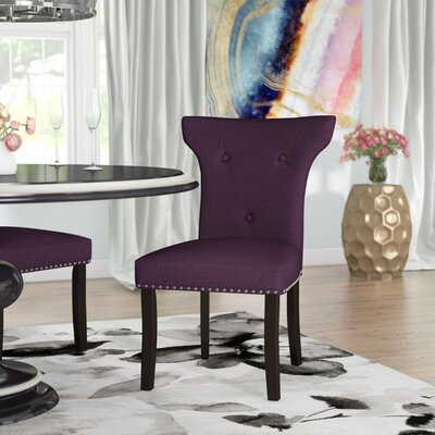 Roseta Side Chair Upholstery: Aubergine