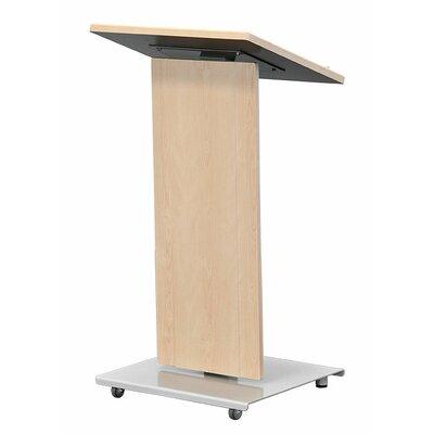 Lectern Speaker Stand Color: Brushed Aluminum LEXYZ20-L-BAT