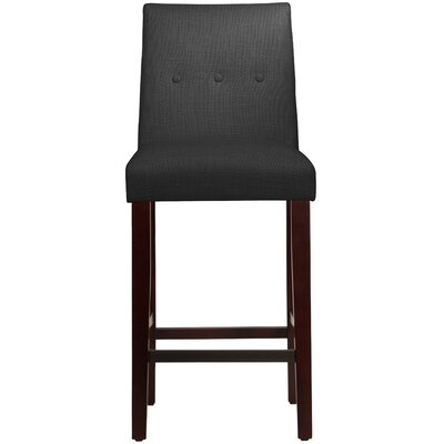 Cyrus Bar Stool Upholstery: Black