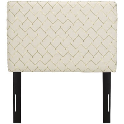 Patchway Box Seam Upholstered Panel Headboard Size: Twin, Upholstery: Panama