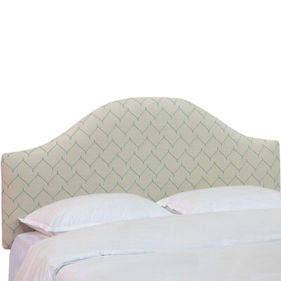 Patchett Curved Upholstered Panel Headboard Size: King