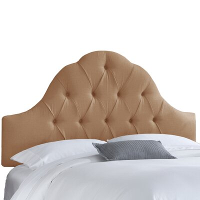 Dozier High Arched Diamond Tufted Upholstered Panel Headboard Size: Queen