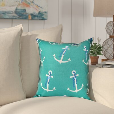 Hancock Anchor Whimsy Geometric Print Throw Pillow Size: 16 H x 16 W, Color: Green