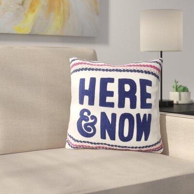 Vansant Here & Now Decorative 100% Cotton Throw Pillow