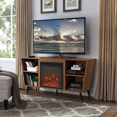 Demoss 52 TV Stand with Fireplace Finish: Pecan