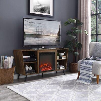 Demoss 52 TV Stand with Fireplace Finish: Dark Walnut