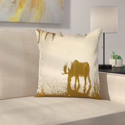 Lake River Forest Wild Cushion Pillow Cover Size: 18 x 18