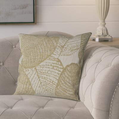 Piner Woven Decorative Pillow Cover Color: Gold