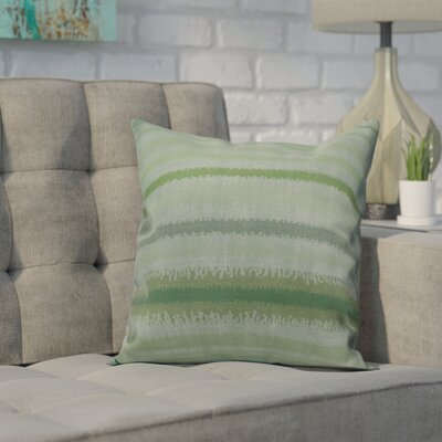 Dorazio Raya De Agua Throw Pillow Size: 16 H x 16 W, Color: Green