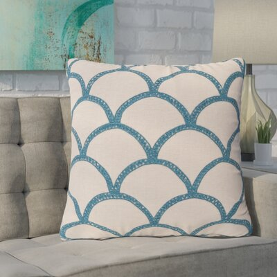 Clarklake Oval Throw Pillow Size: 18 H x 18 W x 4 D, Color: Teal, Filler: Polyester